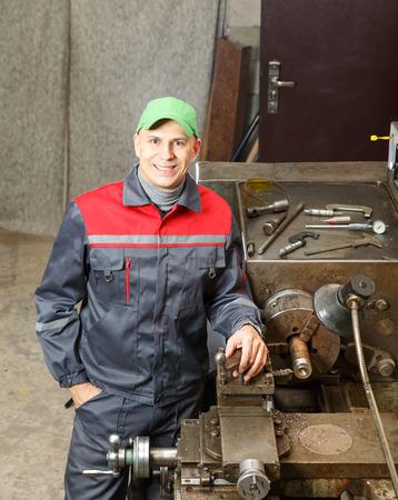 turner: man  turner works for lathe