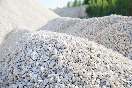 macadam: Pile of rubble and stones Stock Photo