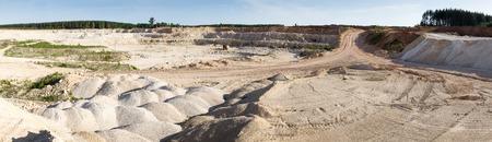 ore: Panorama  large quarry limestone ore