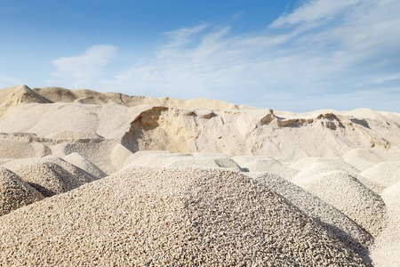 mining of limestone gravel for construction