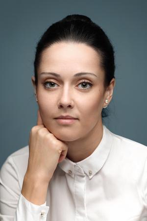 business close-up portrait of brunette