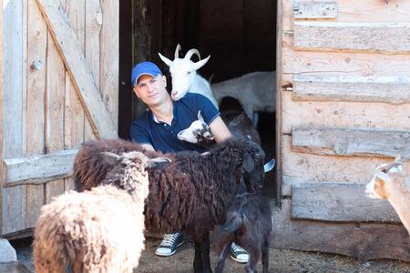 rancher: Male rancher in a farm Stock Photo