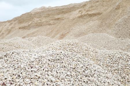macadam: heaps of limestone gravel