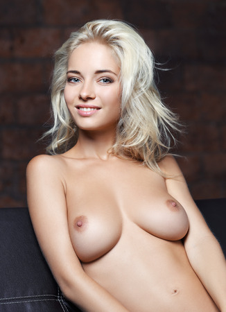 portrait of a naked woman Stock Photo