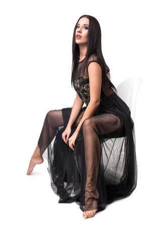 beaty: Beaty woman in black dress