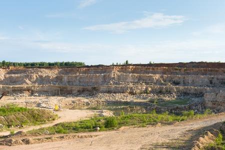 blasting: Blasting area in Quarry