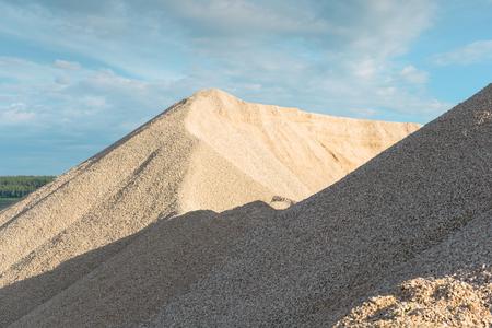 macadam: pile of stones and rocks like a mountain landslide Stock Photo