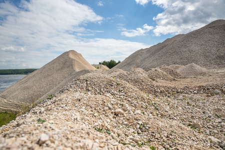 Pile of gravel in a quarry Imagens