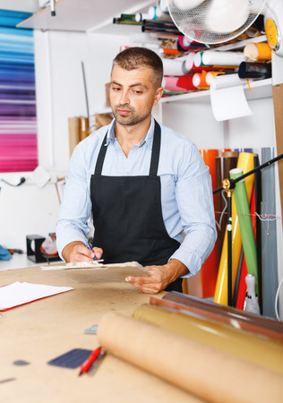 profession,job,people,polygraphy-workman in special clothes with paper Stock Photo