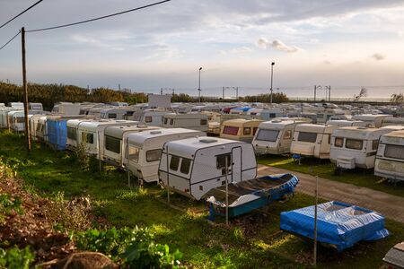 Caravan old camping. Sale of used camping.