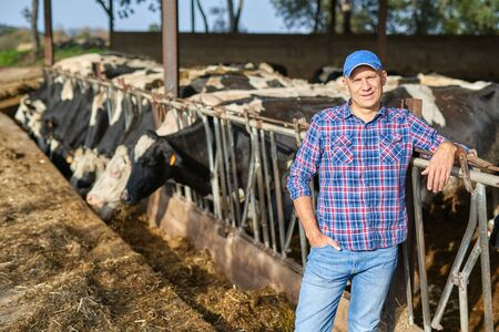portrait of a man on livestock ranches
