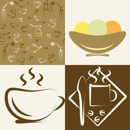 Serie di disegni sul tema di un caff�