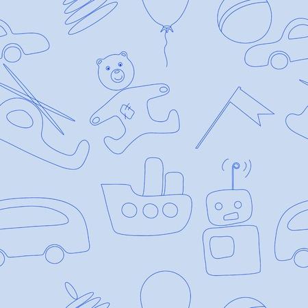 Toys pattern for baby-boy Illustration