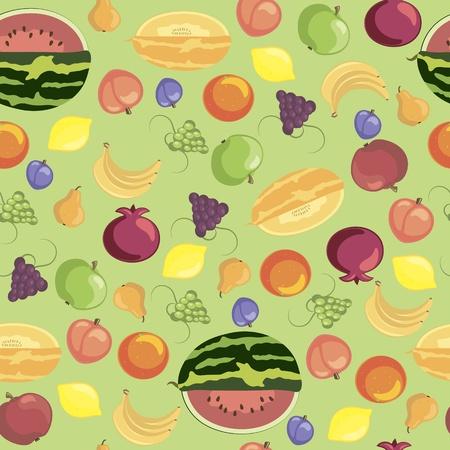 Frutta seamless pattern Vettoriali