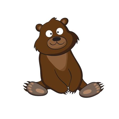 Un esempio di orso cartone animato carino Vettoriali