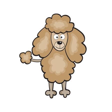 illustrazione di carino cane cartone animato sorridente Vettoriali