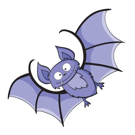 illustratie van het glimlachen leuke cartoon vleermuis