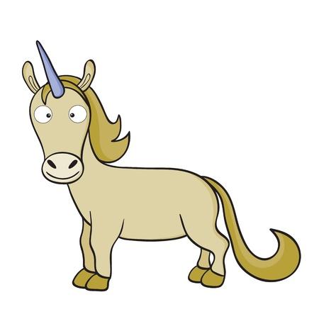 illustration of smiling cute cartoon unicorn. Stock Vector - 14744165