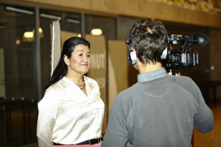 election debate: Nuuk, febuary 26 2013: Greenland Election 2013 KNR TV debate Kuupik Kleist vs. Aleqa Hammond