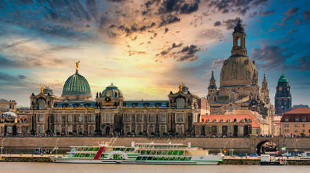 Panoramic composite of the city of Dresden, Saxony in Germany