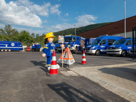 Neckargemuend, Germany: July 6, 2018: Opening celebration of the new local station of the German Federal Agency for Technical Relief THW (Technisches Hilfswerk) in Neckargemünd in southern Germany Editorial