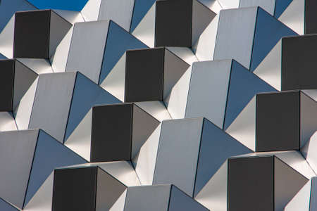 modern facade elements in geometric shapes for a background structure Standard-Bild