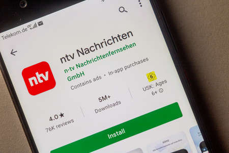 Neckargemuend, Germany: January 15, 2021: app icon of