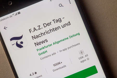 Neckargemuend, Germany: January 15, 2021: app icon of the German news magazine