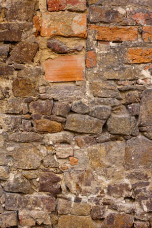 old house wall with different stones