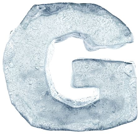 ice alphabet: alphabet made out of ice Stock Photo