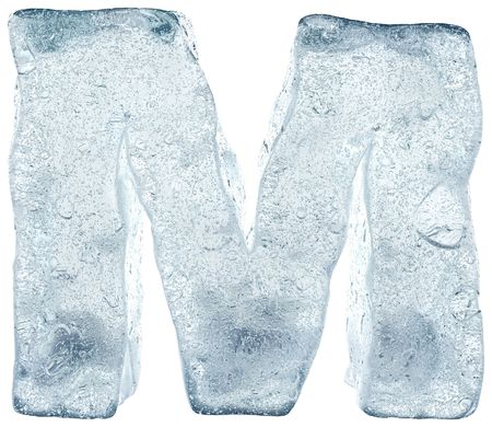 ice water: alphabet made out of ice Stock Photo