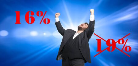 a man is happy about the reduction in VAT