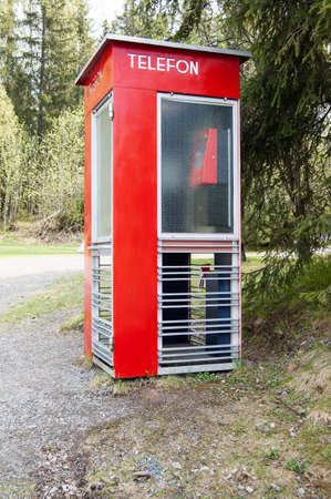 Old norwegian phone booth photo