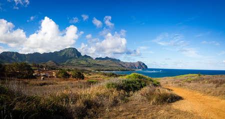 Maha' elepu Heritage Trail, near Shipwreck Beach, Koloa, Kauai, Hawaii, USA Banco de Imagens - 82328600