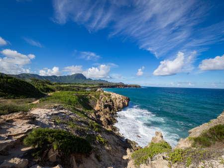 Maha' elepu Heritage Trail, near Shipwreck Beach, Koloa, Kauai, Hawaii, USA Banco de Imagens - 82241379
