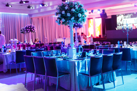 wedding hall Standard-Bild