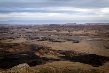 arava: Desert landscape of the Arava valley in south east Israel