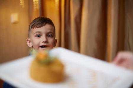 Family Celebrating Childrens Birthday son