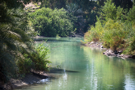 Jordan River, Ort der Taufe Standard-Bild - 84718824