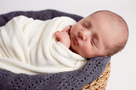 beautiful baby sleeping calmly
