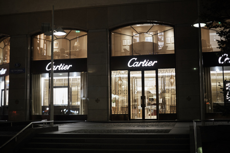moscow - july 22, 2018: Cartier store in moscow. Cartier is a French luxury goods conglomerate company. Editorial