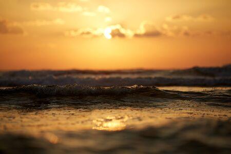 New sunrise over the mediterranean sea - Vintage Filter Stockfoto