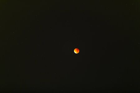 Eclipse of the red moon. Photo of the night sky during the eclipse.