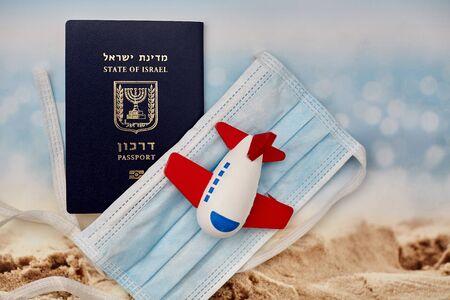Israeli travel pass ban. quarantine concept