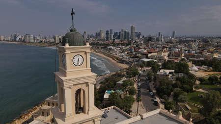 Belltower, Jaffa, Tel Aviv, Israel, Aerial view