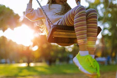 child playing on the playground Reklamní fotografie