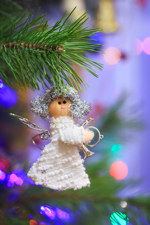 angel tree: Doll angel Christmas tree decoration