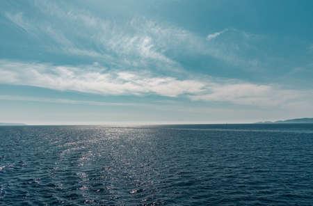 Wonderful Synny seascape in summer time. Greece. Ionian island 版權商用圖片