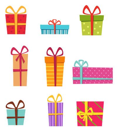 Christmas gift box collectie Stockfoto - 36064138