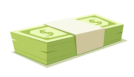 cartoon money: Vector illustration of Stack of money.